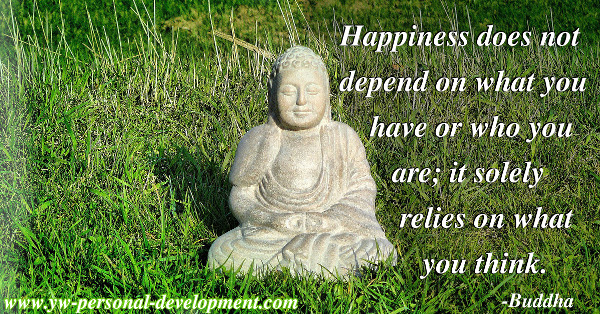 Where does happiness come from? Buddha said it solely relies on what you think.